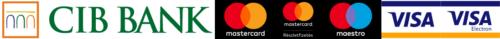 Elfogadott bankkártyák: MasterCard, Maestro, Visa
